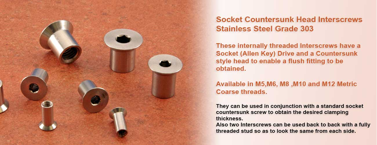 Available in M5,M6, M8 ,M10 and M12 Metric Coarse threads.