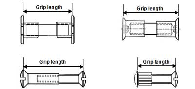 Interscrew grip range measurement examples